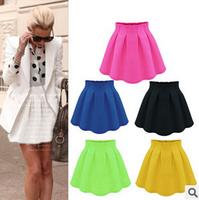 6 colors large size mini skirt Saias Femininas 2015 short skirt female black and white striped  wild women sew expanding Saias