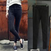 2015 New Fashion Winter Spring cotton Womens sweatpants elastic waist pant women casual thick Plus velvet pencil pants feet