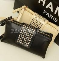 Free Shipping Women PU Leather Fashion Designer Rivet Bag Women Wallet Wallets Bags Purse Clutches 4016-770