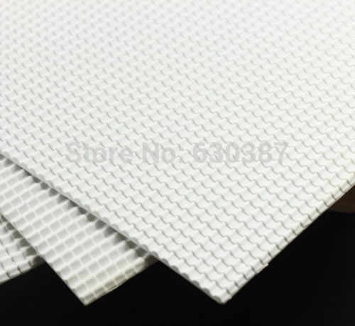 ABS42 2pcs ABS Plastic Styrene Plasticard Roof Tiles Sheet 215mm x 300mm White(China (Mainland))