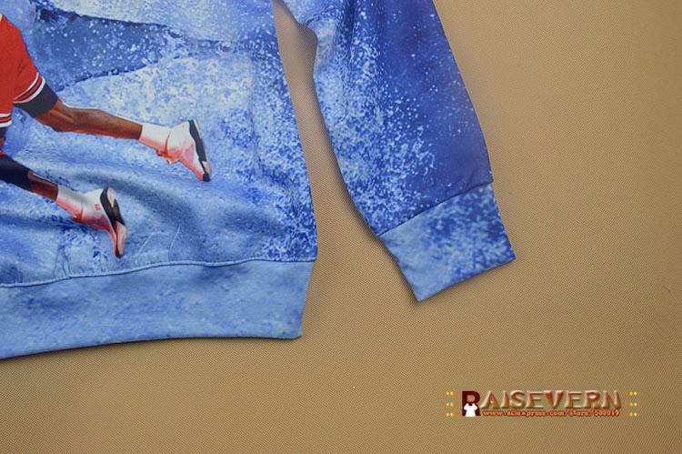 Raisevern harajuku 3D толстовка мужчины женщин свободного покроя балахон Jordan / халк шрек / огурчик / канье уэст принт одежда