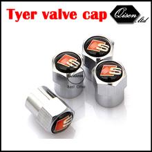 FREE SHIPPING 4 X SILVER CHROME SLINE S LINE WHEEL VALVE CAP TYRE STEM AIR CAPS for S3 S4 S5 S6 S8 A1 A3 A4 A5 A6 A7 TT RS4