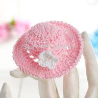 New Fashion hat design Mini Crochet party favor gifts pink color 12pcs/lot