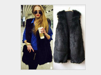 Women Brown Plus Size Faux Fur Vest Gilet Fourrure Rabbit Fur femme Vest Outwear Long Coat Special Slim Ladies Coats of Fur XXL