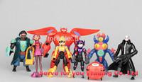 2015 hot ! NEW 8PCS/set Big Hero 6  Baymax action figure toys About 6-12cm BigHero6 kids toys Baymax action figure free shipping
