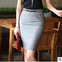 3xl Size Plus Women New 2015 Work Wear Short Skirt Women's Slim Package Hip Skirts Pencil Skirt Suits Formal Saia 4 Colors