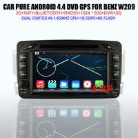 Android 4.42 Car DVD GPS Navigation Player Phonebook for W209 Dual Zone Bluetooth Rear View Camera Multi-Languages Menu 1080P