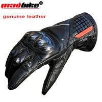 New genuine leather motorcycle glolves motociclista sport gloves luvas guantes de moto gloves motocross carbon protection M L XL