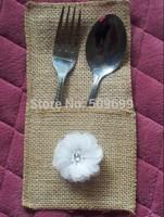 Wedding Table Decoration & Accessories Silverware Holder Dinner Cutlery Pocket Knife Fork holder bags