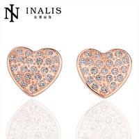 2015 Hot Promotion wholesale Top quality jewelry 18K cute trendy women's stud earrings new design latest jewelry