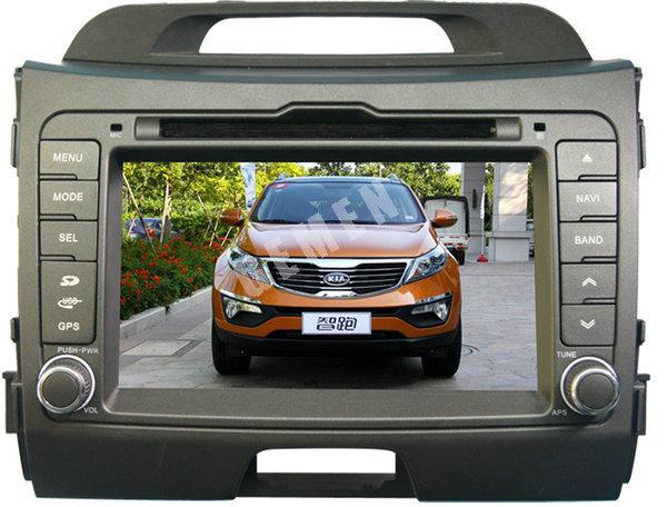best car dvd player for KIA Sportage support MP4 USB AV IN DVD U Disk SD card muti languages logo set analog TV antenna(China (Mainland))