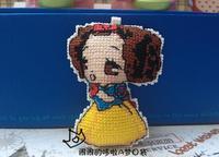 Cartoon double cross-stitch hang / Snow White