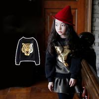 Aones Cartoon Girls Sweatshirts Autumn O-neck Children's Pullover Hoodies Coat Casual Tops Kids Clothes Print Sweatshirt CT211