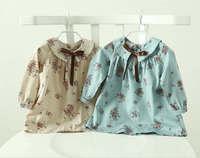 2015 New Spring foreign trade girls floral shirt Children Kids Doll shirt 6pcs/lot