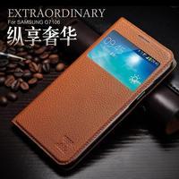 For Samsung GALAXY GRAND 2 G7106 icarer XOOMZ smart Genuine Leather Case GALAXY GRAND2 Original brand View Window Sleep wake up