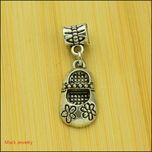 30pcs Fashion Big Hole Loose Beads Shoe European Pendant Beads Fits Pandora Charms Bracelets pendants diy