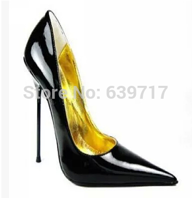 Extreme high heel 14cm advanced PU material Sexy fetish High Heel Slip on Single Sole sex