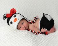 2015 new children's photography penguin style cap sleeve Children wool hat children photography packages