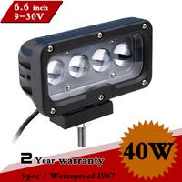 6.6inch 40W LED Work Light Offroad 12V 24V IP67 SPOT Fog Drive light For Truck 4x4 ATV LED Worklight External Light  Save on 54W