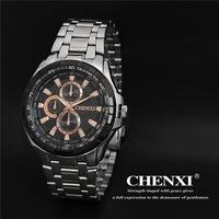2015 New CHENXI Brand Golden men EF-539 watch Full Steel Analog Quartz Wristwatch Casual fashion watch Sports Wristwatch