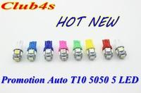 Hot New Wholesale Car LEDs light Clearance lights T10 5 LED LIGHT 5LED Car Auto LEDS T10 194 W5W 5050 Wedge Light Bulb Lamp 5SMD
