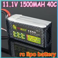 Lion Power Lipo Lithium-Polymer 11.1V 1500MAH 40C 3S Accu Battery 6S1P Akku Battery