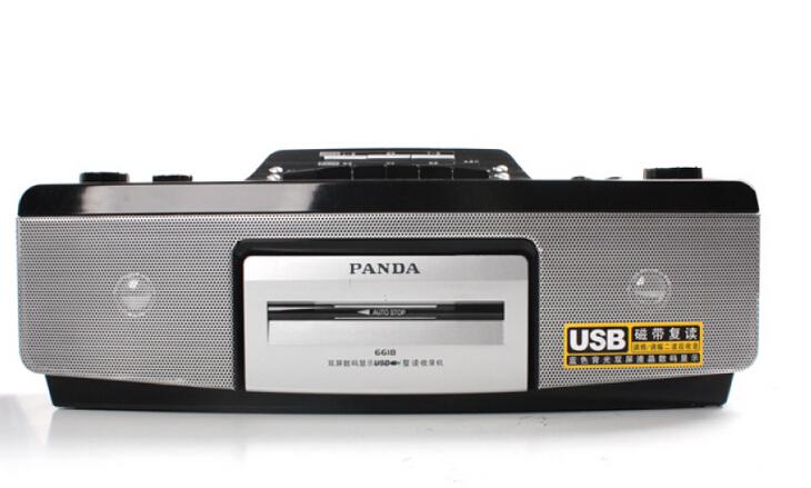 Panda 6618 tape recorders , video machines tape recorder tape player power USB teaching machine tape Free Shipping(China (Mainland))