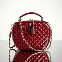 BRIGGS Brand Bag 2015 Diamond Lattice High Quality PU Leather Handbag Tassel Shoulder Bag Chains Cross Body Bags For Women