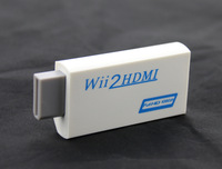 2015 Free Shipping Hot Sale New White Wii to HDMI Wii2HDMI Adapter Converter Full HD 1080P Output Upscaling + 3.5mm Audio Box