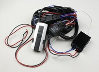 Wireless RF Remote Control Car Truck light lamp wiring cable switch Relay harness for HID Halogen Led light bar for 220W 4-Lamps