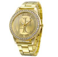 Hot Sale 2015 Fashion Rhinestones Top Brand Wristwatches High Luxury Watches women Quarz Watch Free shipping
