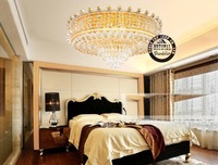 Client's recommending Hot selling luxury Crystal Modern ceiling Light For Villa Hotel Palace,etc Dia 750*750*350MM OEM