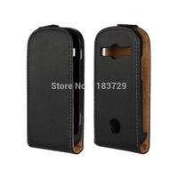 Ultra Thin Vertical Flip Cases For Samsung Galaxy Xcover 2/S7710 Genuine Leather Luxury Up and Down Open Flip Case