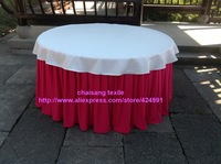 2pcsThicker #21 Fuchsia Pink 470cmx75cm Organ Wrinkled Table Skirting with Clips For Events&Birthday Party Table Decoration,