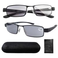 R11014 Eyekepper Stainless Steel frame Rubber Painted Temple Tinted Lens Men's reading glasses