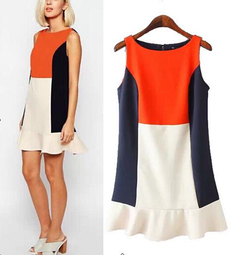 женское-платье-2015-vestidos-oneck-hf