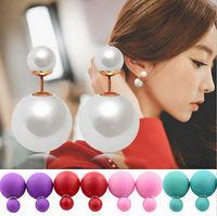 Hot Sale Double Pearl Earrings For Women Big Pearl Earrings Stud Earrings Women Fashion Jewelry PE009