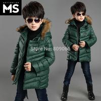 Children's clothing male winter child outerwear child wadded jacket 2014 child cotton-padded jacket boy baby thickening