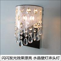 Silver PVC Hollow Out+K9 Crystal Wall Lamp bed-lighting E14 base wall light 220V/110V