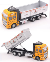 1:48 DiBang Pull Back Truck Model Car excavator Alloy Metal & Plastic Toy Cars for Children Toys Gifts for Boys Free Shipping