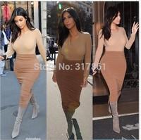 2015 new arrive Women Celebrity Kim Kardashian Long Sleeve two color women set
