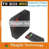 MOBASE MXQ Android TV Box Amlogic S805 Quad Core Smart TV Media Player 1G/8G HDMI OTG RJ45 USB H.265/HEVC 1080P XBMC Miracast
