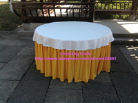2pcsThicker #4 Gold 470cmx75cm Organ Wrinkled Table Skirting with Clips For Events&Birthday Party Table Decoration,