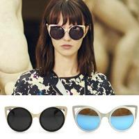 Brand 2015 Cat Eye sunglasses Women Oculos De Sol FemininoFashion Sun Glasses Female Wild Street Personalized Party Glasses