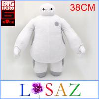 Size 38CM Christmas Gift BigHero 6 Baymax Stuffed Plush Toy Large Ultra Soft Classic Toys One Piece Brinquedos
