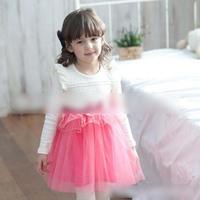 New 2015 Children Sweet Lace Princess Dress Girls Lace Tulle Tutu Dresses Kids Fashion Gauze Party Dress for Kids 4663