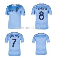 2015 New York city FC Soccer JerseyS 15/16 New York City LAMPARD  Football Shirts DAVID VILLA free shipping