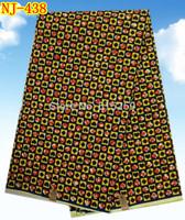 free shipping!!!2015 Fashion high quality African real wax prints fabrics 6 yards for garment (NJ-438)