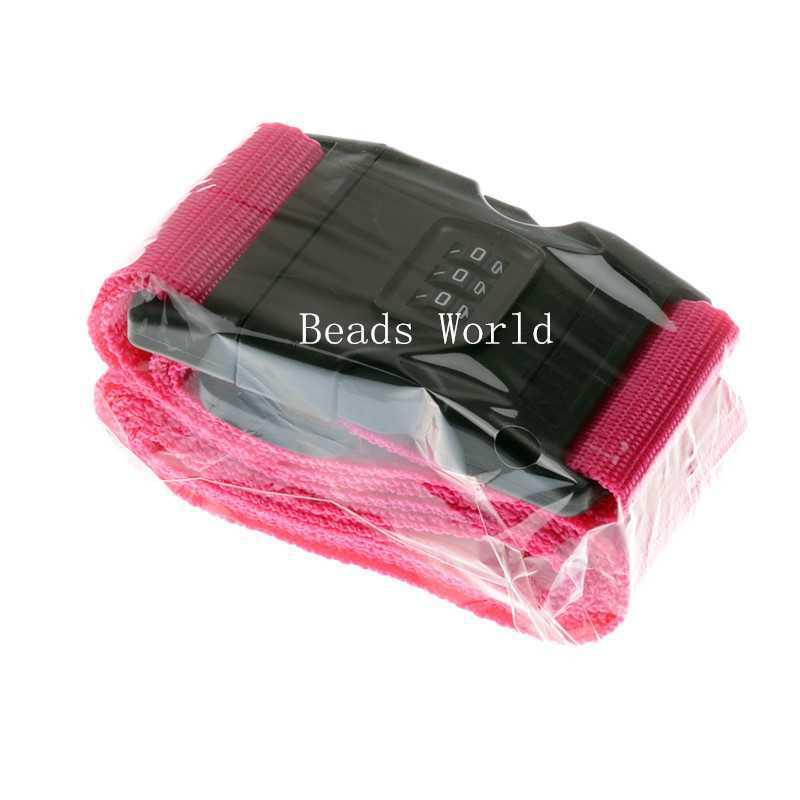 1 Fuchsia Travel Luggage Suitcase Lock Belt with Password Adjustable(1.1-1.8m)x60mm (W04353 X 1)(China (Mainland))