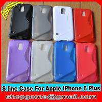 TPU Case for Apple iPhone 6 Plus ,S Line TPU Case Anti-skid design for iPhone 6 Plus, 10pcs/lot,Free shipping